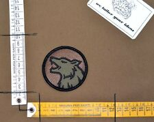 Patch ricamata milspec monkey wolf lupo task force forest velcro airsoft pj