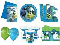 Monsters Inc University Birthday Party Supplies - Tableware Decorations Plates
