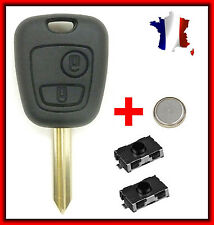 Case Key Plip CITROEN Saxo Xsara Picasso Berlingo + 2 Switch Button + Battery