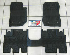 2014-16 Jeep Wrangler JK Unlimited All Weather Rubber Slush Floor Mat Set Mopar
