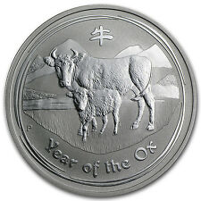 2009 1 oz Silver Lunar Year of the Ox Coin (Series II)