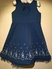 Janie and Jack Sweet Sophistication  Blue Dress White Floral Stitching Size 2T