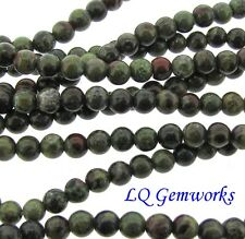 "16"" Strand DRAGON BLOOD JASPER 4mm Round Beads"