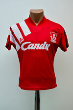 LIVERPOOL ENGLAND KIDS 1991/1992 CANDY HOME FOOTBALL SHIRT JERSEY MAGLIA ADIDAS