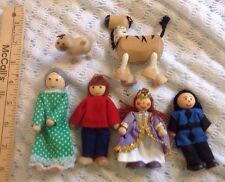 Melissa / Doug Misc wooden Doll house figures  lot Of 6 Items