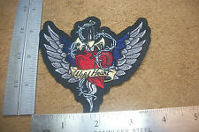"Biker patch vest Lethal Threat Embroidered ""WILD HEART"" 3 1/2""  X 4"" #159"