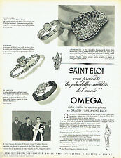 PUBLICITE ADVERTISING 026 1954  Omega  montre  Grand Prix St Eloi