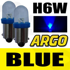 H6W LED XENON SUPER BLUE REAR INDICATOR BULBS 433 BAX9S BENELLI TreK 1130 91