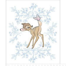 """Camelot Disney Bambi Butterfly panel 100% cotton fabric by the panel 43"""" X 36"""""""