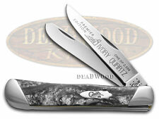 CASE XX Slant Series Ivory Quartz colored Corelon Trapper 1/2500 Stainless Knife