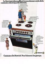 PUBLICITE  1974   DE DIETRICH    four à pyrolyse