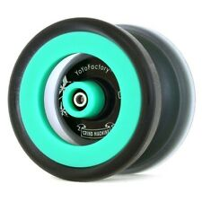 Aqua Teal Grind Machine Yo Yo From The YoYoFactory + 3 NEON STRINGS YE/OR/GRN