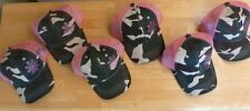 PUGS PREMIUM GIRLS WOMEN LADIES Baseball Style Cap Hat Pink Mesh Camouflage