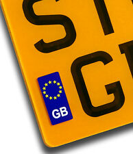 GB Euro Number Plate Vinyl Sticker For EU European Travel Motorcycle decal badge