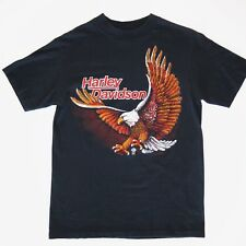 VINTAGE HARLEY DAVIDSON TEE SHIRT FOR BIKERS ONLY 1980s EAGLE WISCONSIN SMALL