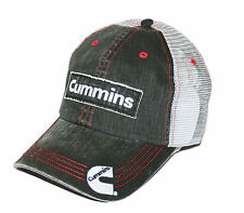 "Cummins Diesel Engines ""Cummins"" Embroidered Patch Denim Mesh Cap"