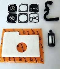 Stihl MS170 180 017 018 tune up kit Air filter,carburetor kit,fuel line & filter