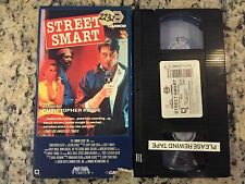 STREET SMART RARE OOP MEDIA HOME ENT VHS! 1987 CHRISTOPHER REEVE, MORGAN FREEMAN