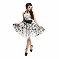 VIXXSIN DARK CROW DRESS WHITE BLACK GOTHIC POIZEN EMO PUNK ALT M