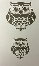 Owl Mylar Reusable Stencil Airbrush Painting Art Craft DIY home Christmas