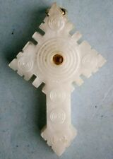 Stanhope of Apparition of Our Lady at Knock in a Mother of Pearl Cross, vintage