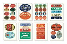 Cavallini & Co PARIS 24 sheets DECORATIVE ASSORTED STICKERS in tin LABEL/PAR