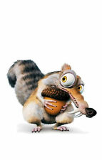 Framed Print - Scrat The Ice Age Squirrel Hugging His Acorn (Picture Poster Art)
