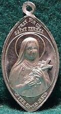 ST THERESE LISIEUX / ROSES Old ALUM. MEDAL 34mm