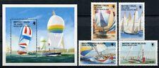 JUNGFERNINSELN VIRGIN ISL 1989 Regatta Segeljachten Schiffe Ships 647-50 + Bl.54