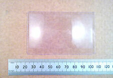 Flat Plastic Fresnel Convex Lens Magnifier, Credit Card Sized