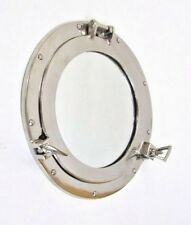 "11"" Porthole Mirror Aluminum Chrome Finish ~ Aluminum Porthole ~ Nautical Decor"