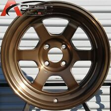 15X9 ROTA GRID-V 4X114.3 -15 FULL ROYAL SPORT BRONZE WHEEL AGGRESSIVE FITMENT