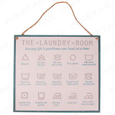 LAUNDRY ROOM SIGN Decorative Wooden Hanging Wall Plaque Utility/Washroom/Home