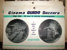 locandina cartonata CINEMA GUIDO SUZZARA 1938/1962 formato Cm. 28 x 20