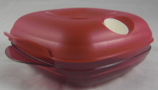 Tupperware Heat N Serve Microwave Safe Square Round 2-Cup Container Red New