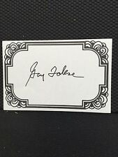 Gay Talese, Author Signed Bookplate
