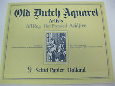 Old Dutch Watercolor Pad 24x30cm 20 sheets- 200gr SCHUT Papier  Holland