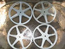 """Lot of 4 Used 7"""" Metal 16mm Film Reels FREE SHIPPING"""