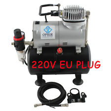OPHIR 220V Airbrushing Air Tank Compressor Set for Hobby Tattoo Painting T-shirt