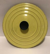 """Vintage Le Creuset """"B"""" 7 1/2"""" Yellow Cast Iron Enameled Lid Only Made In France"""