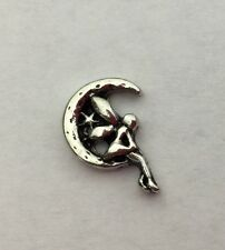 Fairy in the Moon Floating Charm for Glass Memory Lockets #331