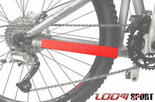 Mountain BIKE CHAIN PROTECTOR Frame Guard, ROSSO CARBONIO zoom SPORT