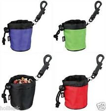 PUPPY DOG MINI TREAT BAG FOR TRAINING TREATS ON THE GO + CLIP ATTACHMENT 7 X 9