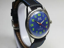 VINTAGE HMT JAWAN 17 JEWELS HAND WINDING MOVEMENT MEN'S ANALOG DIAL WRIST WATCH.