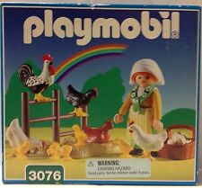 NEW Playmobil 3076 Woman with Chickens, Chicks, Eggs, and Rooster