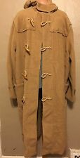 Polo Ralph Lauren Camel Hair Wool Duffel Coat Jacket Toggle XL Hood Hoodie Long