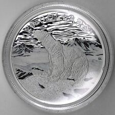 2017 $20 Glistening North The Polar Bear Pure Silver Diamond Glitter Color Proof