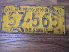 1940 ALBERTA Canada Vintage 76 Year Old Licence Plate 57-565