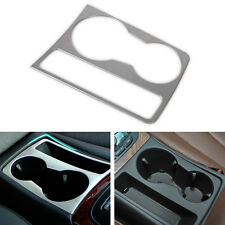 Chrome Interior Cup Holder Panel Decoration Frame 3D sticker for Audi A4 B8 A5
