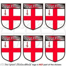 City of LONDON Britain ENGLAND Shield Mobile Cell Phone Mini Stickers, Decals x6